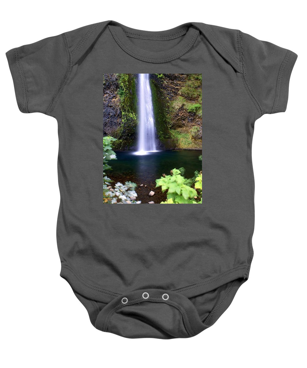 Waterfalls Baby Onesie featuring the photograph Horsetail Falls by Marty Koch