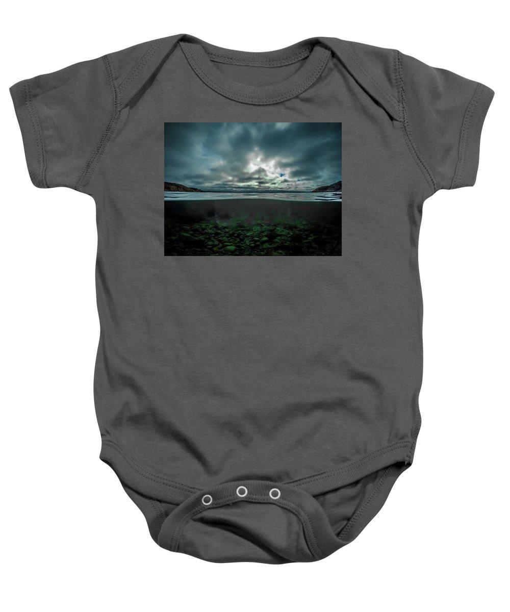 Underwater Baby Onesie featuring the photograph Hostsaga - Autumn tale by Nicklas Gustafsson