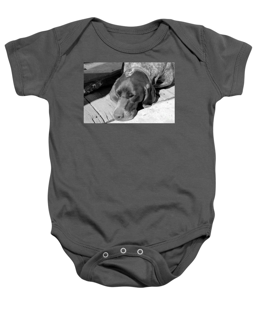 Dog Baby Onesie featuring the photograph Hound Dog by David Lee Thompson