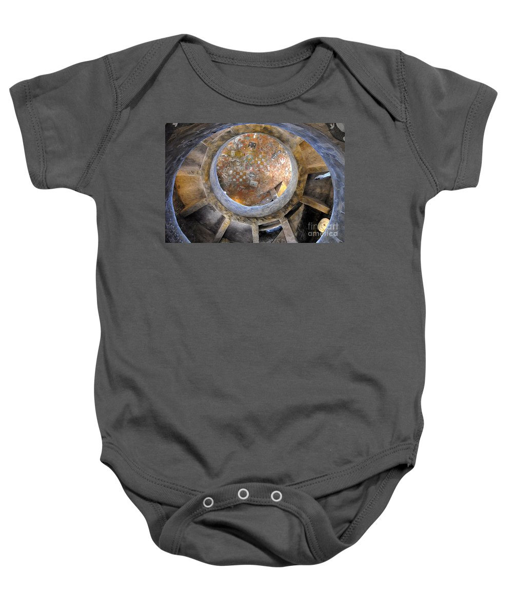 Hopi Baby Onesie featuring the photograph House Of The Hopi by David Lee Thompson