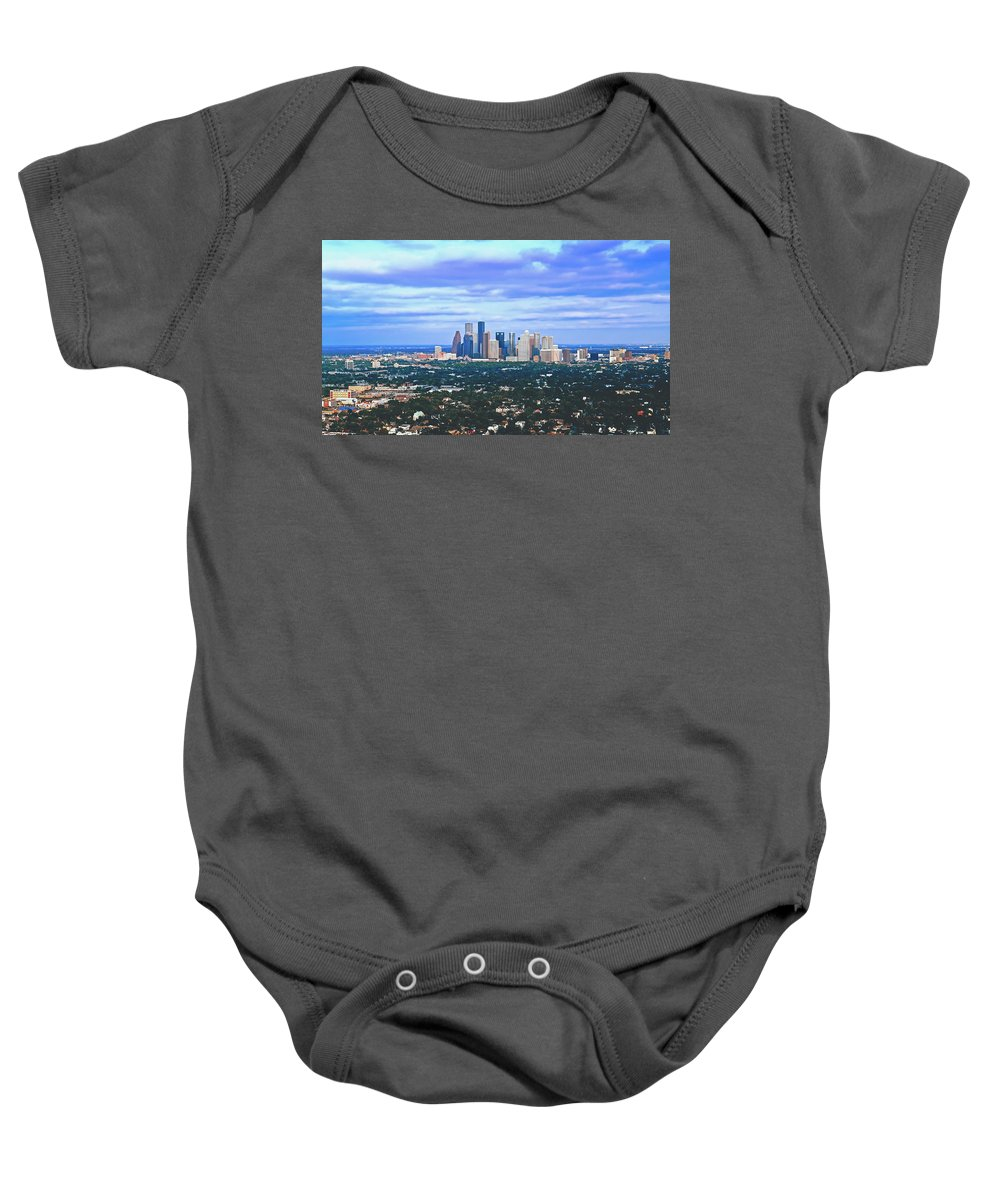 Houston Baby Onesie featuring the photograph Houston 1980s by Library Of Congress