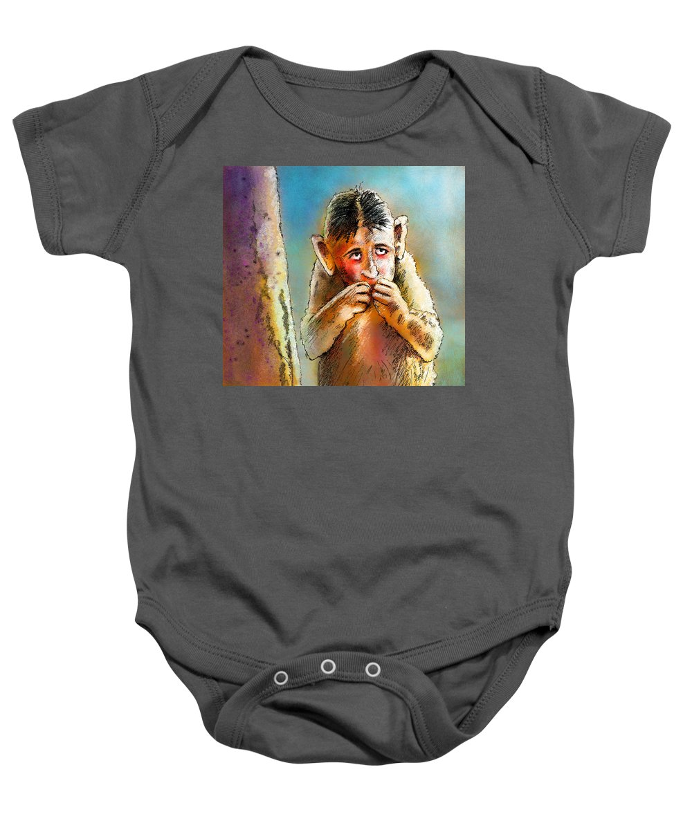 Love Baby Onesie featuring the painting I Am So Sorry by Miki De Goodaboom