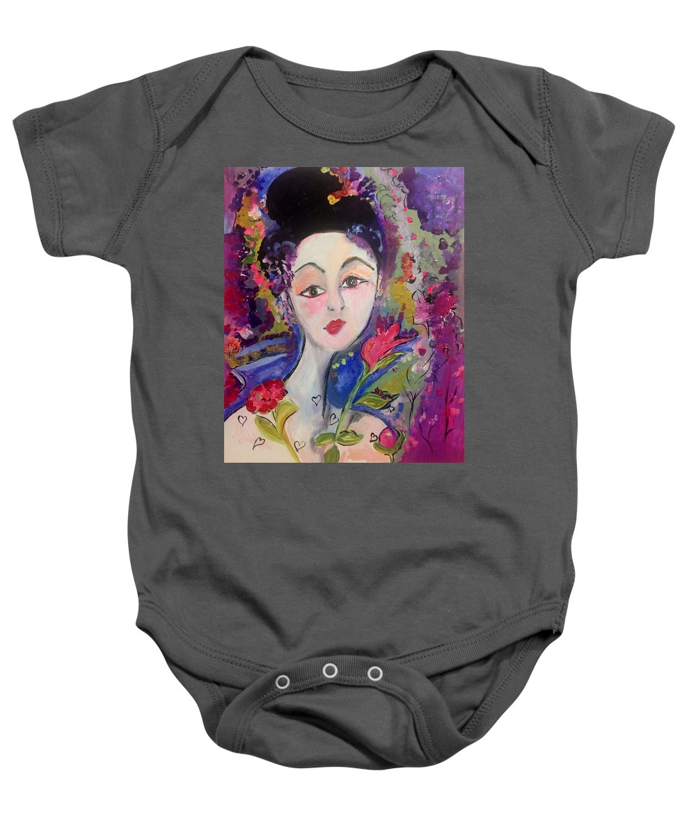 Listen Baby Onesie featuring the painting I Have Feelings Too by Judith Desrosiers