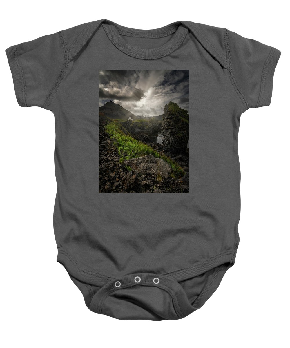 Iceland Baby Onesie featuring the photograph Icelandic Isolation by Rob Giannese