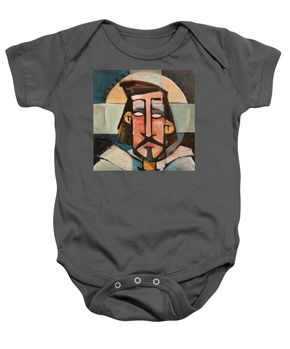 Christ Baby Onesie featuring the painting Icon Number 1 by Tim Nyberg