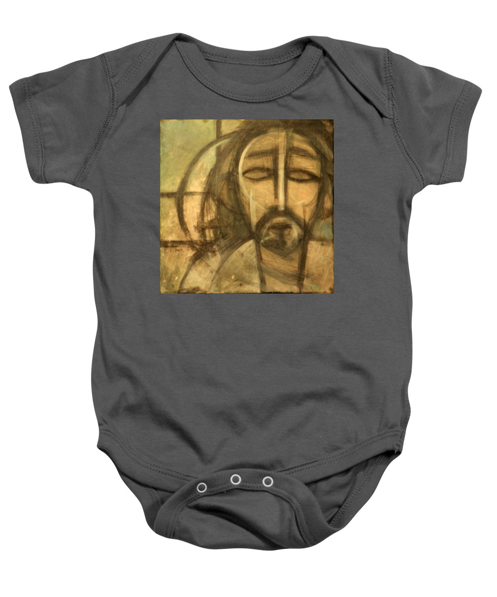 Christ Baby Onesie featuring the painting Icon Number 6 by Tim Nyberg