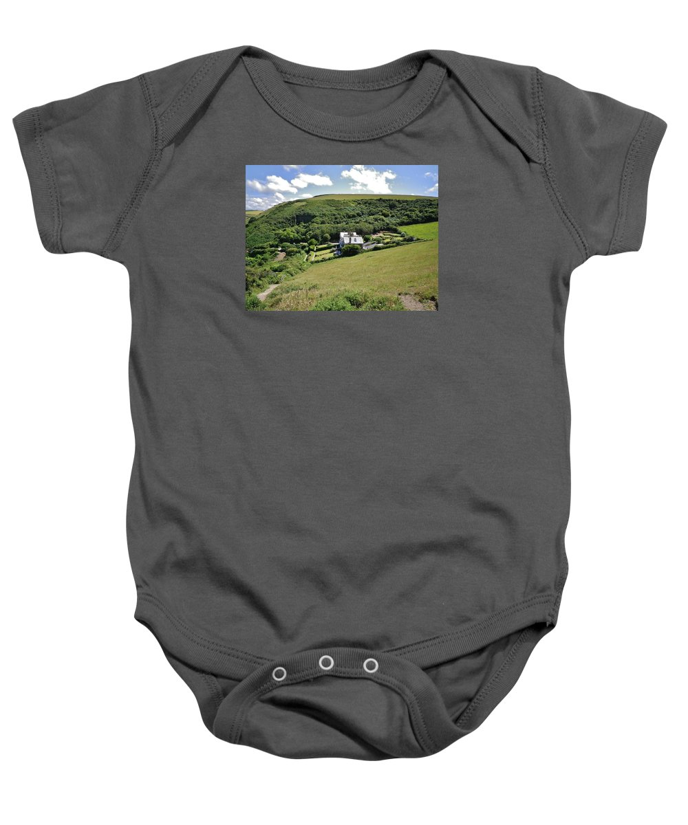 Cornwall Baby Onesie featuring the photograph Idyllic North Cornwall by Richard Brookes