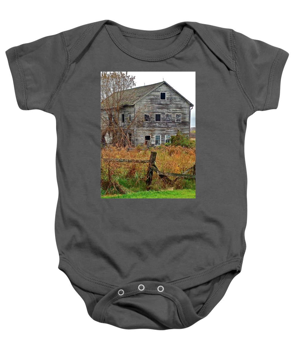 Country Baby Onesie featuring the photograph If It Could Talk by Diana Hatcher