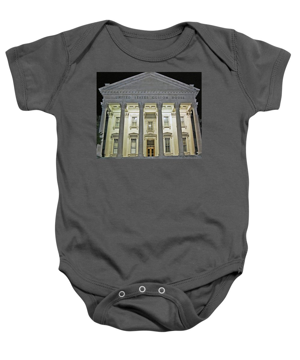 United States Baby Onesie featuring the digital art Illuminated Beneath The Darkness by DigiArt Diaries by Vicky B Fuller
