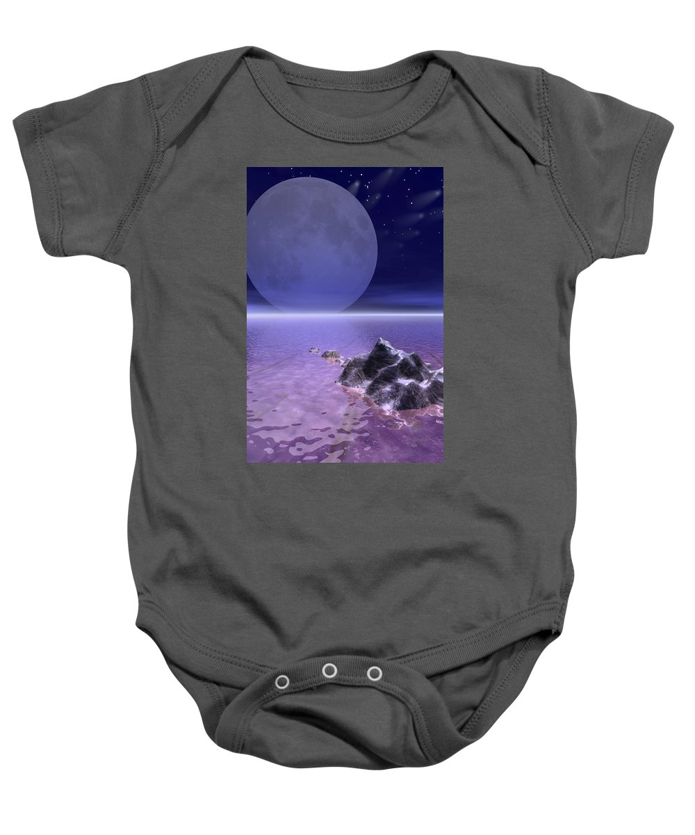 Landscape Baby Onesie featuring the photograph Illustrated Evening by Paul Sale Vern Hoffman