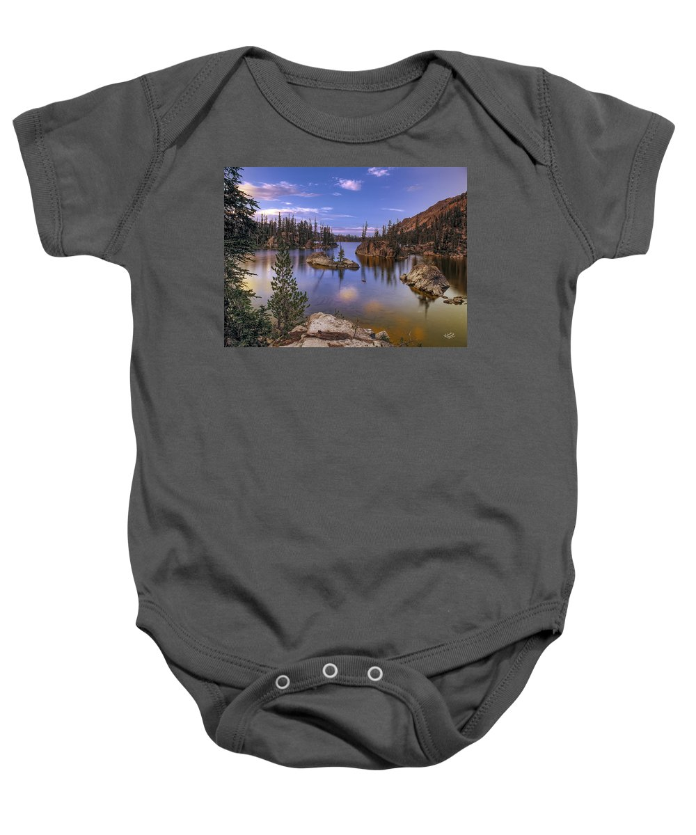 Beautiful Baby Onesie featuring the photograph Imogene Lake by Leland D Howard