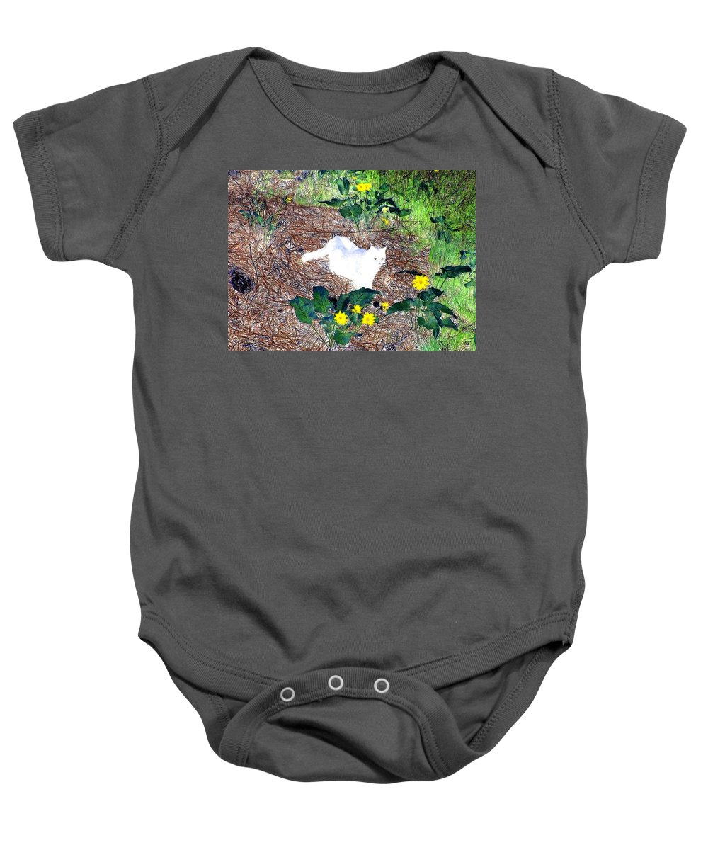 Impressions Baby Onesie featuring the digital art Impressions 4 by Will Borden