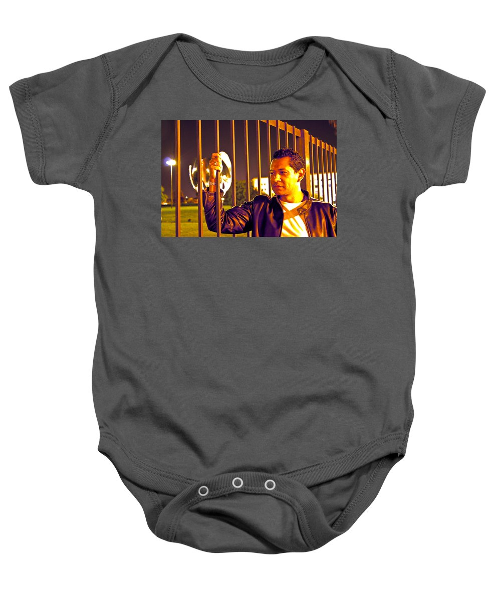 Baby Onesie featuring the photograph In Or Out by Francisco Colon