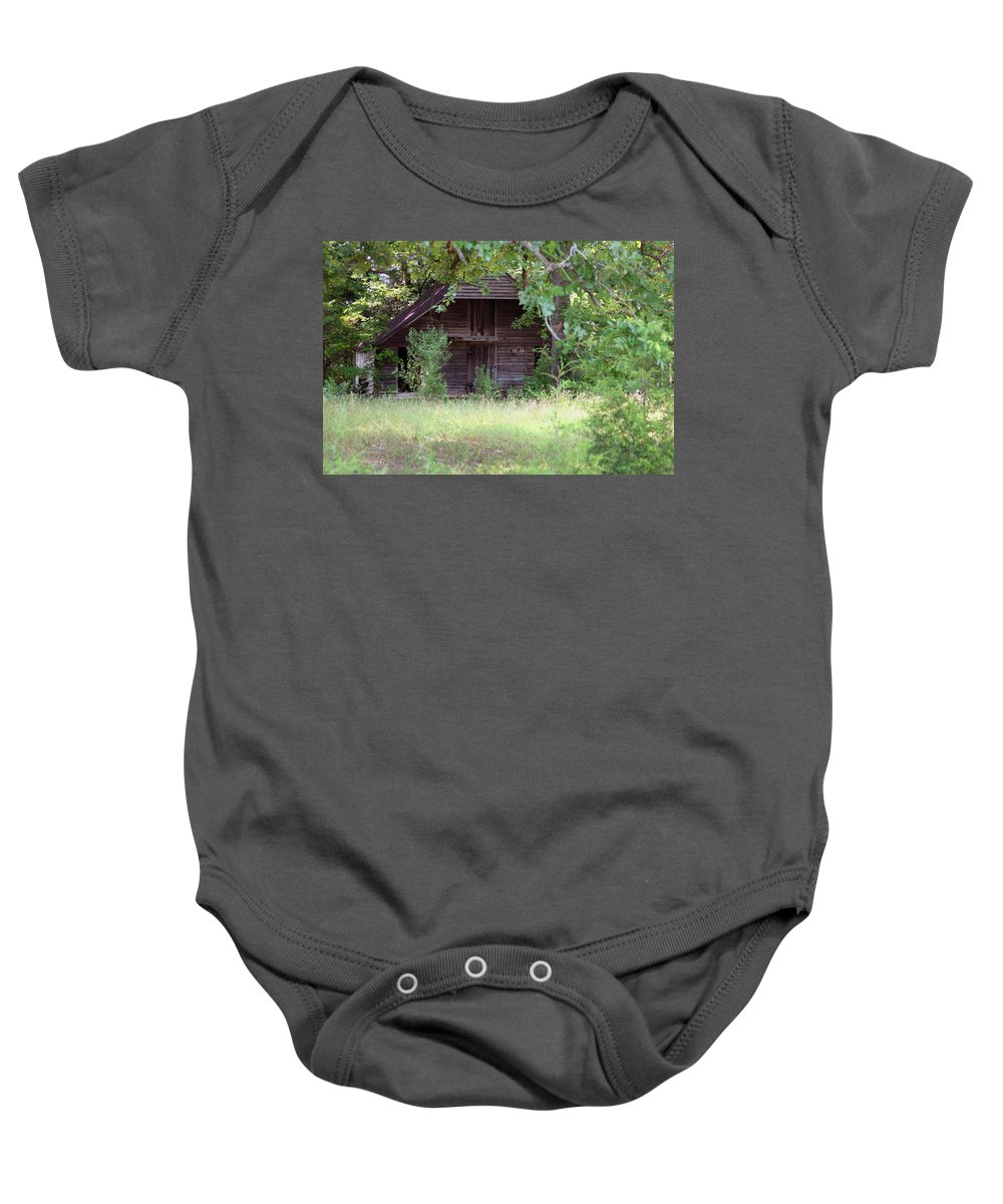 Landscape Baby Onesie featuring the photograph In The Back Woods by Karol Livote