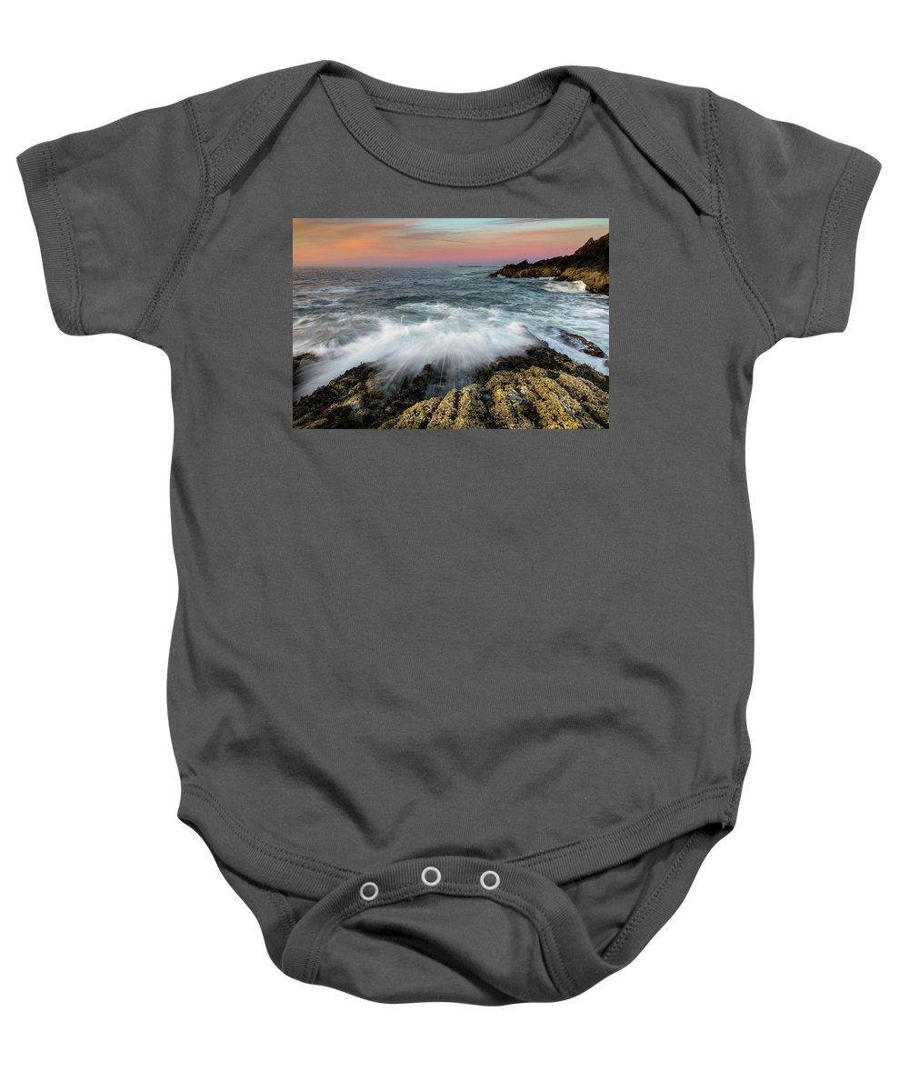 Maine Baby Onesie featuring the photograph Incoming by Colin Chase