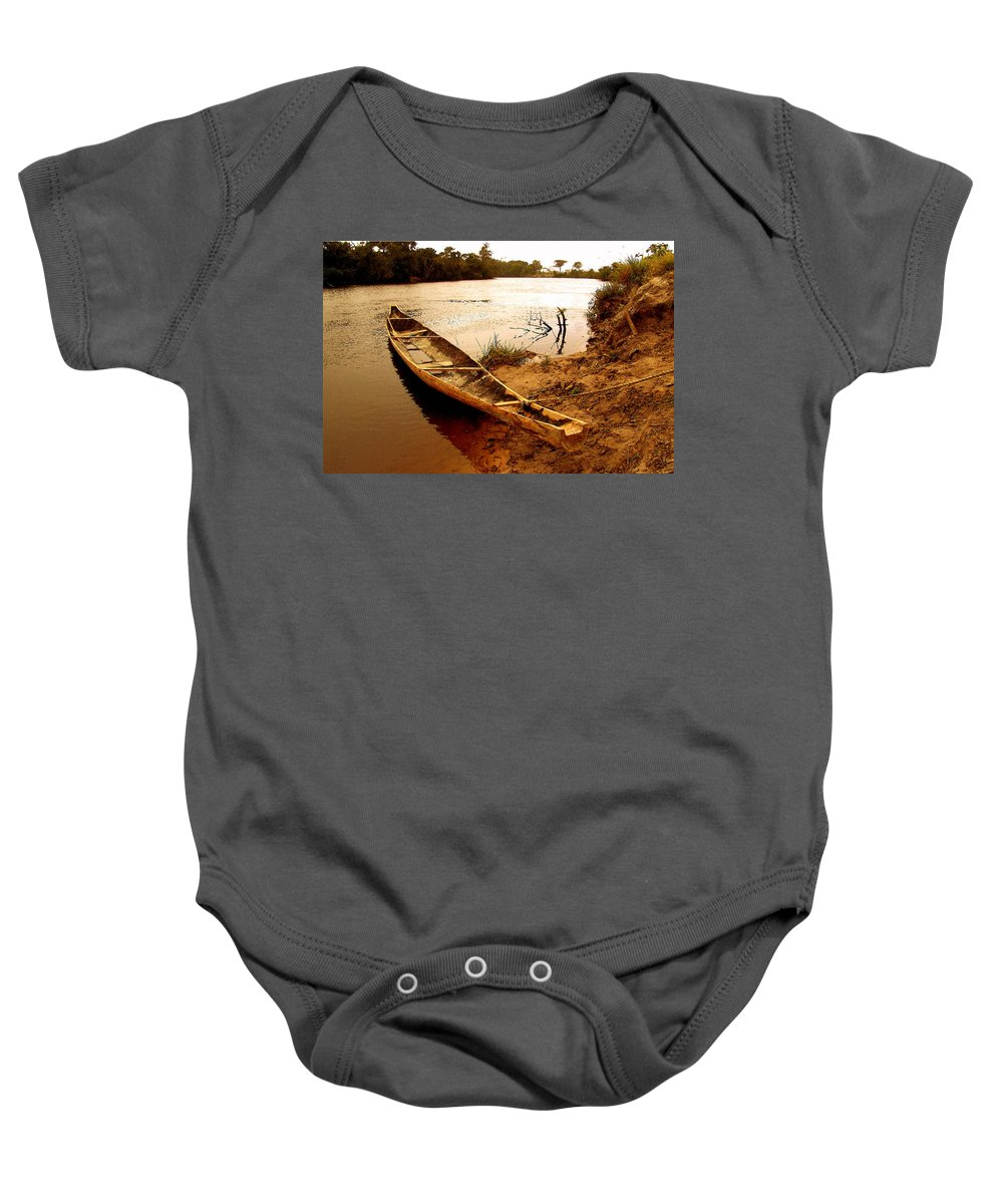 Indian Baby Onesie featuring the photograph Indian Boat by Galeria Trompiz