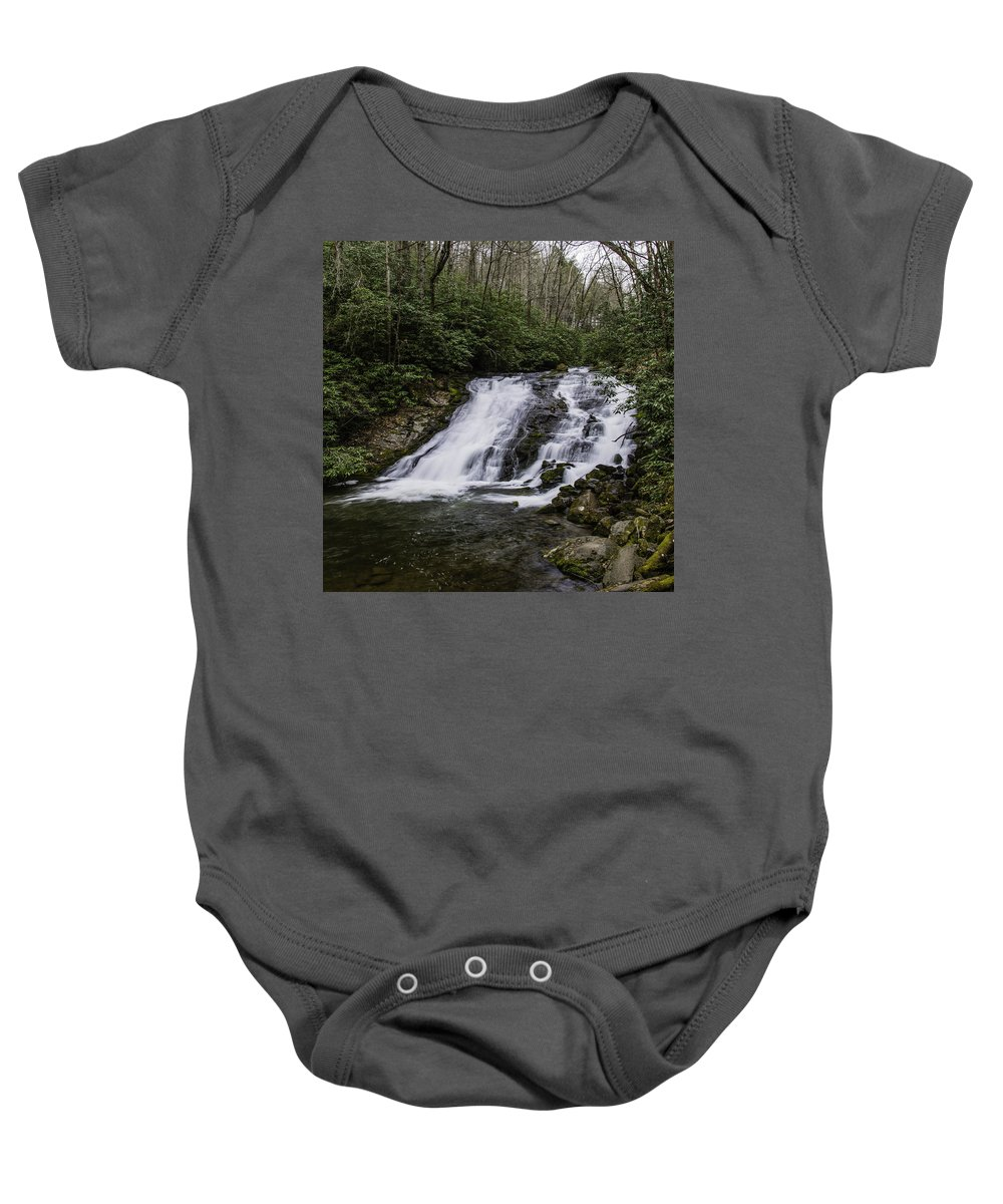 Columbia Gorge Baby Onesie featuring the photograph Indian Creek Falls 2 by Ingrid Smith-Johnsen