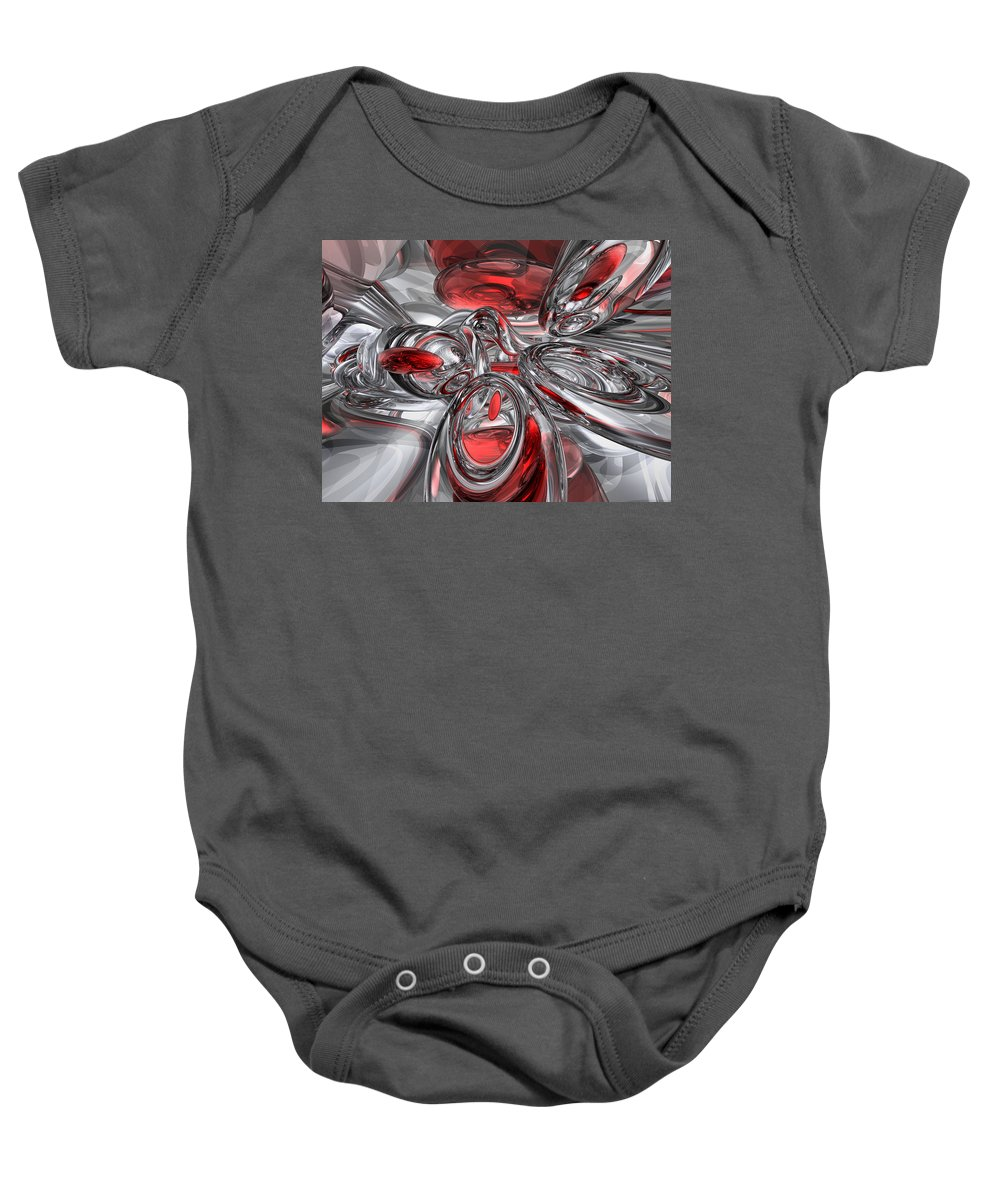 3d Baby Onesie featuring the digital art Infection Abstract by Alexander Butler