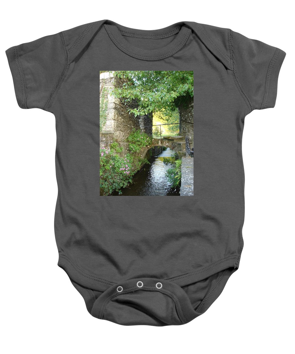Inistioge Baby Onesie featuring the photograph Inistioge by Kelly Mezzapelle