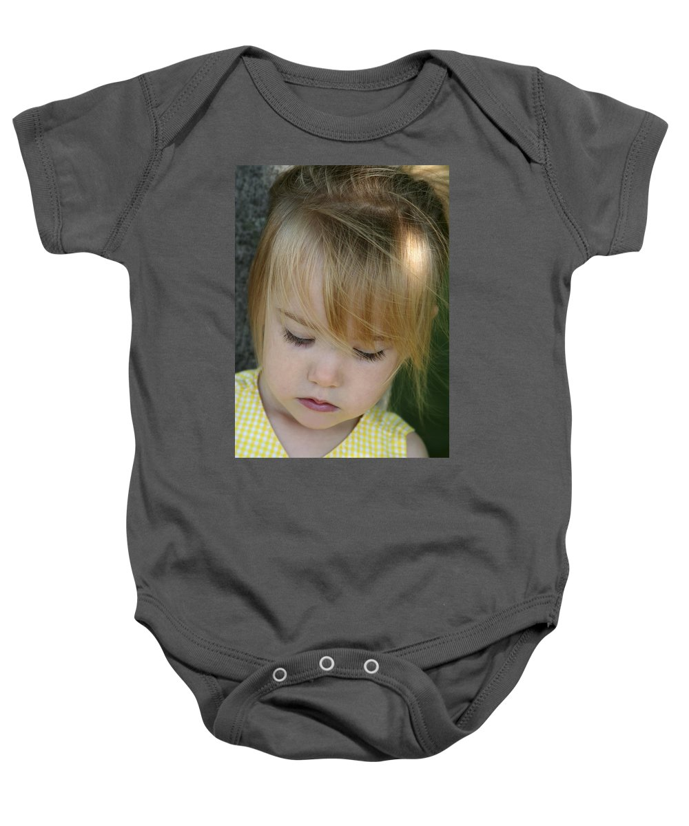 Angelic Baby Onesie featuring the photograph Innocence II by Margie Wildblood