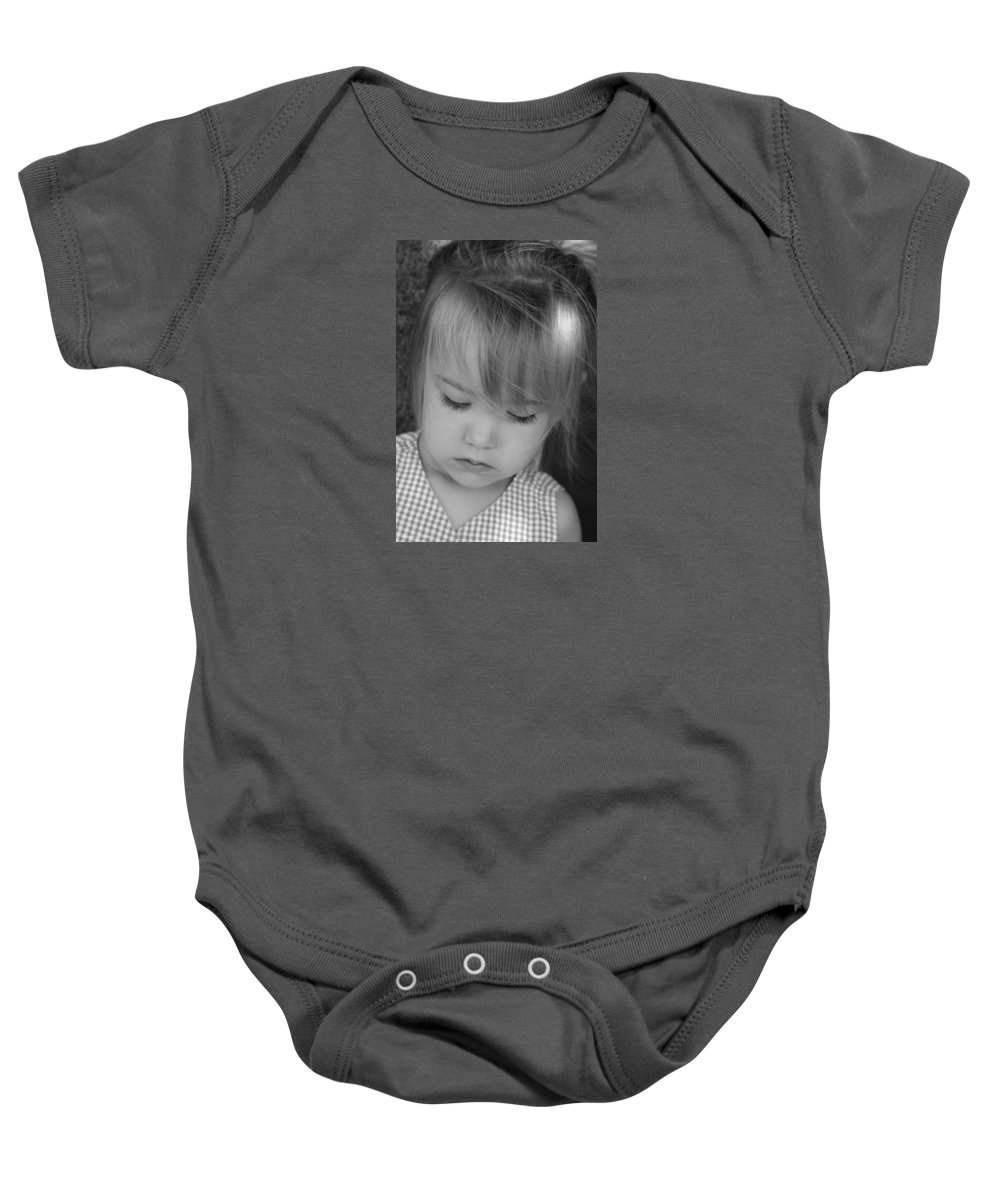 Angelic Baby Onesie featuring the photograph Innocence by Margie Wildblood