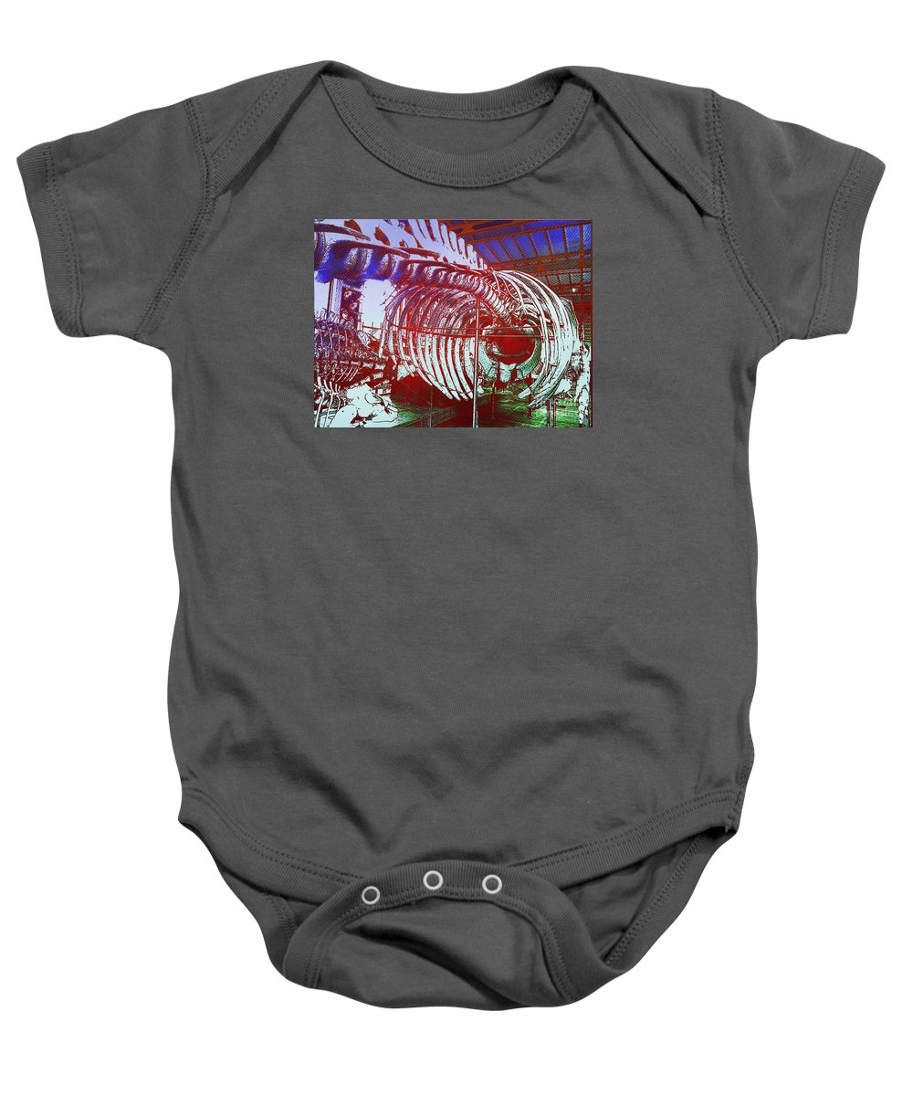 Moby Dick Baby Onesie featuring the photograph Inside Moby Dick by Helge