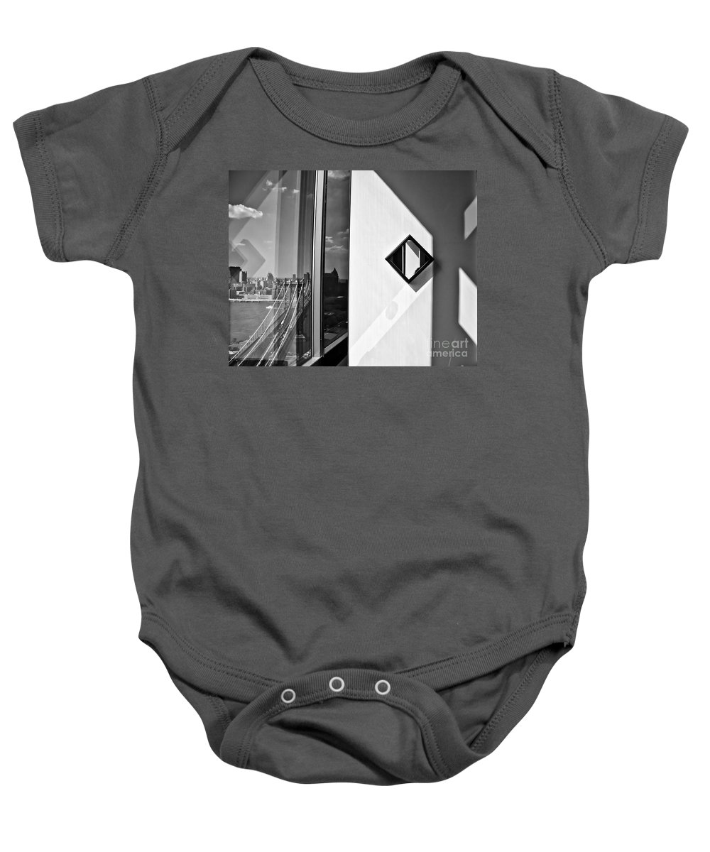 Manhattan Baby Onesie featuring the photograph Inside Outside by Madeline Ellis