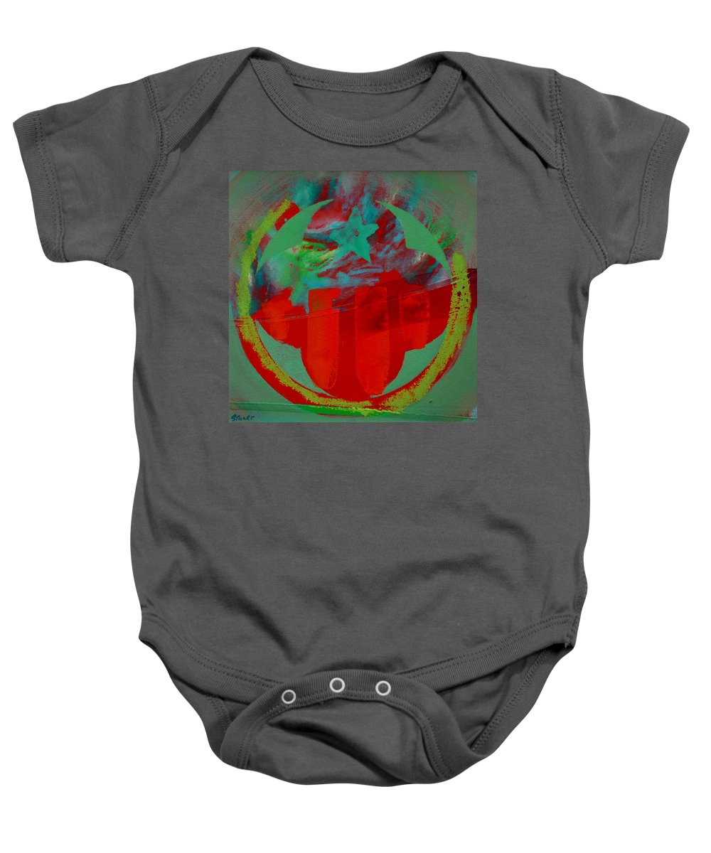Usaaf Insignia Baby Onesie featuring the painting Insignia by Charles Stuart
