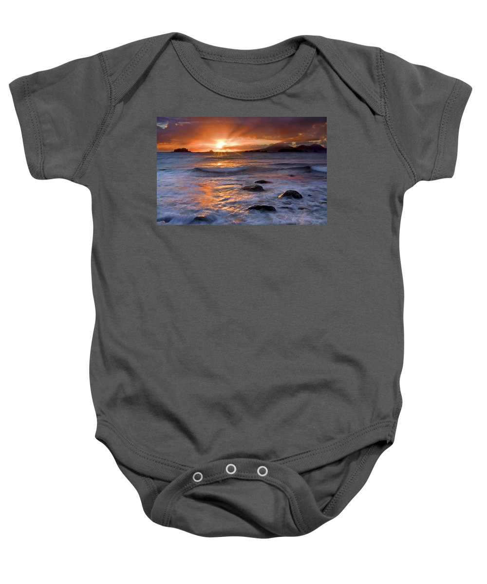 Alaska Baby Onesie featuring the photograph Inspired Light by Mike Dawson