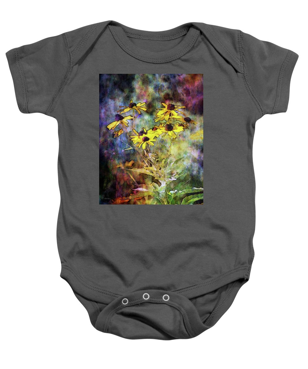 Intense Yellow Baby Onesie featuring the photograph Intense Yellow 3227 Idp_2 by Steven Ward