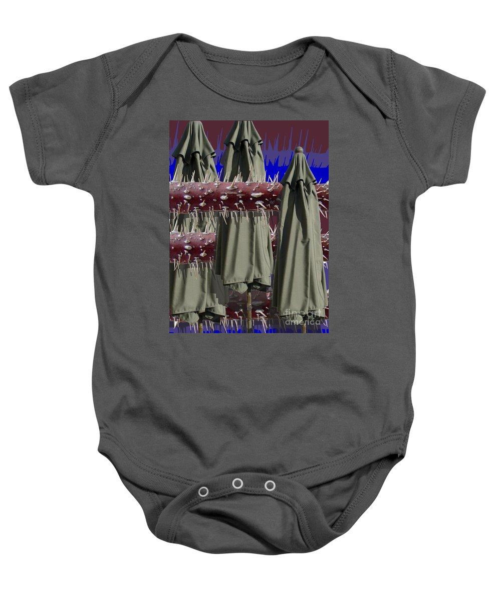 Digital Art Baby Onesie featuring the digital art Interlaced by Ron Bissett