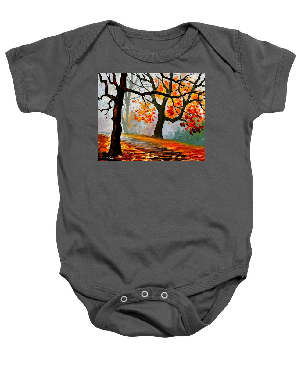 Landscape Baby Onesie featuring the painting Interplacement by Leonid Afremov