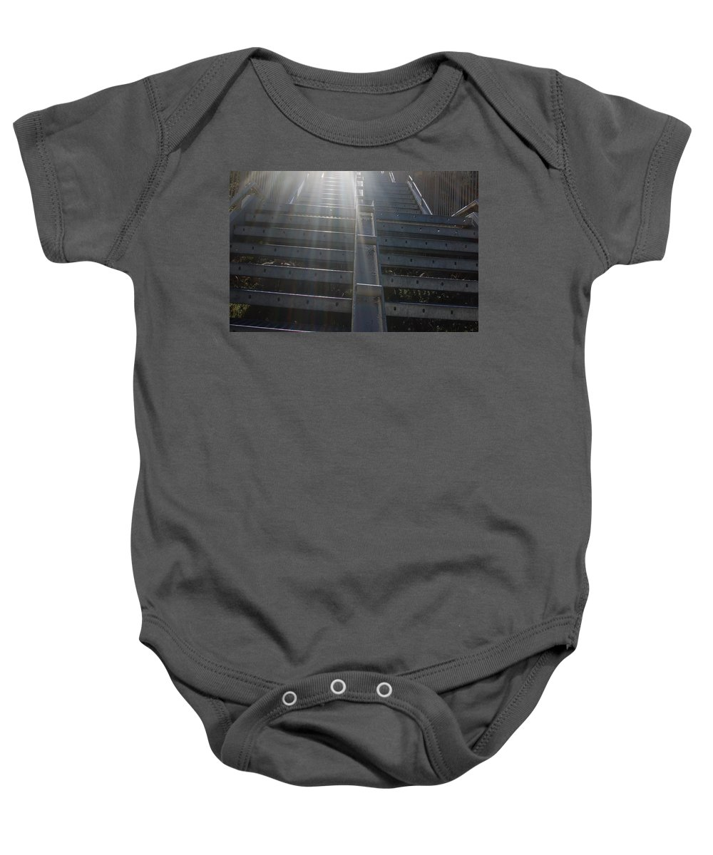 Color Photography Baby Onesie featuring the photograph Into The Light by Kirk Griffith