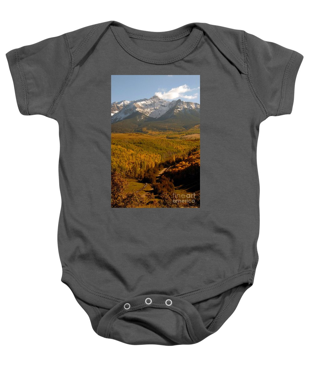 San Juan Mountains Baby Onesie featuring the photograph Into The Mountains by David Lee Thompson