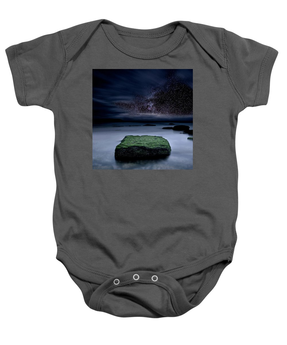 Night Baby Onesie featuring the photograph Into The Shadows by Jorge Maia