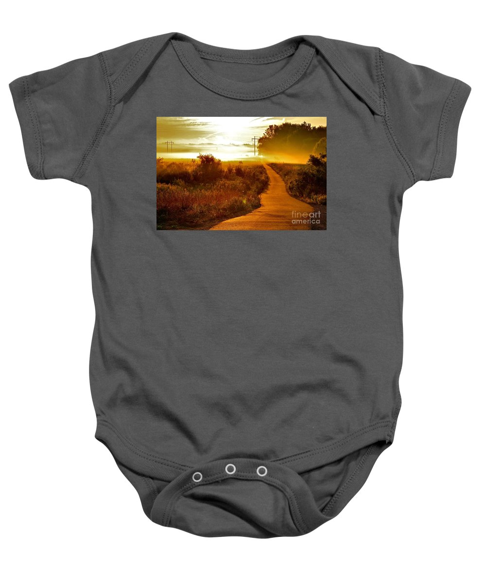 Landscape Baby Onesie featuring the photograph Into The Unknown by Robert Pearson
