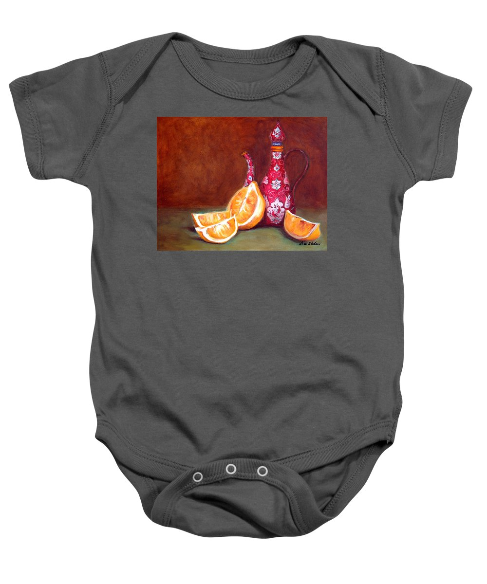 Lemons Baby Onesie featuring the painting Iranian Lemons by Portraits By NC