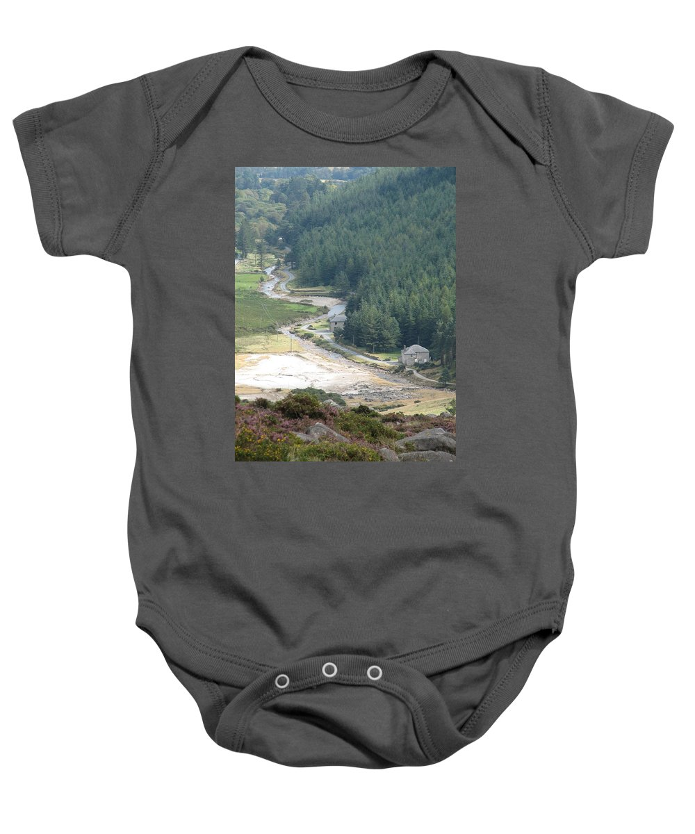 Ireland Baby Onesie featuring the photograph Irish Valley by Kelly Mezzapelle