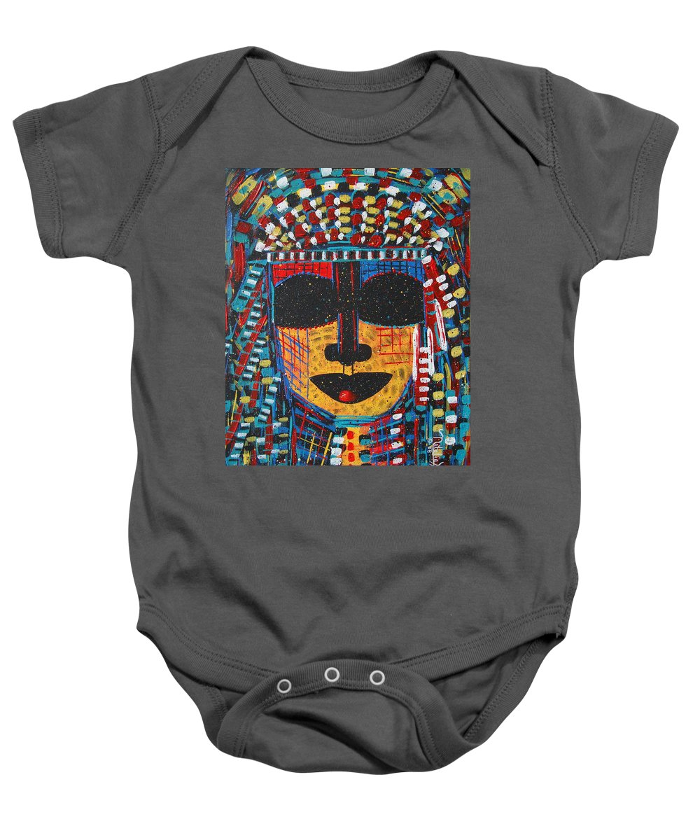Abstract Baby Onesie featuring the painting Isatoria by Natalie Holland
