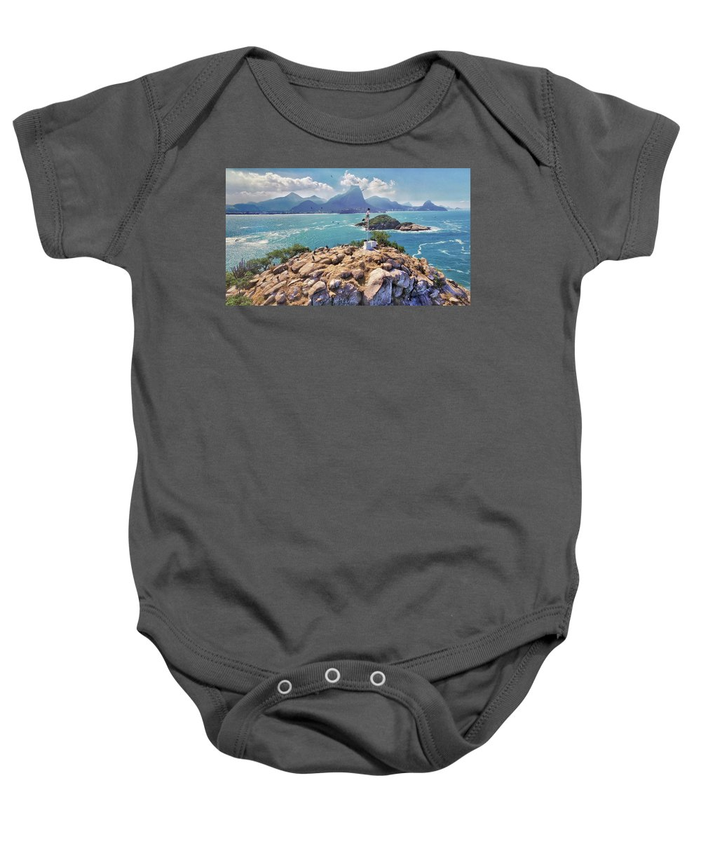 Islands Baby Onesie featuring the photograph Island Lighthouse by Victor Aune