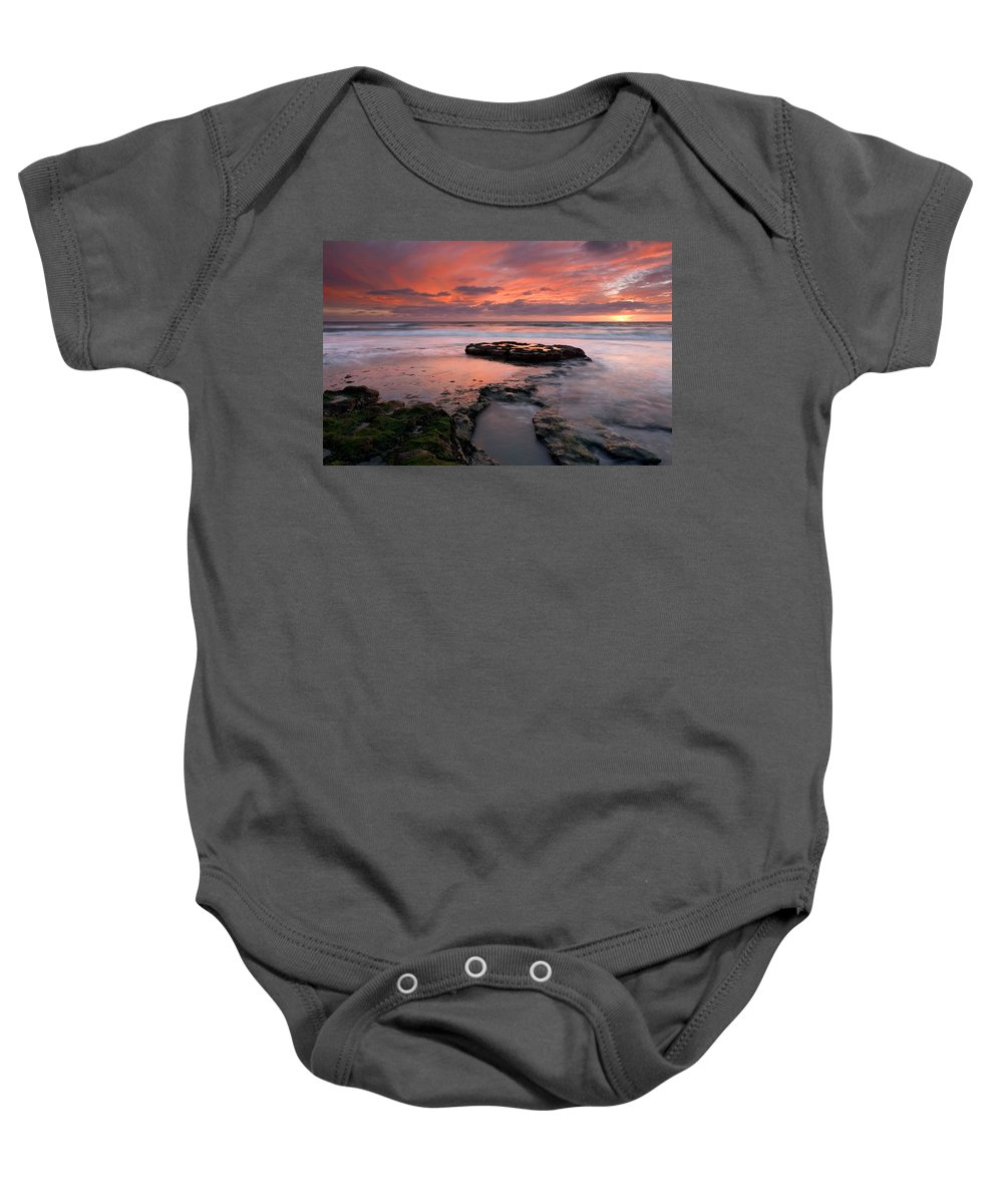 Sunset Baby Onesie featuring the photograph Isle Of The Setting Sun by Mike Dawson