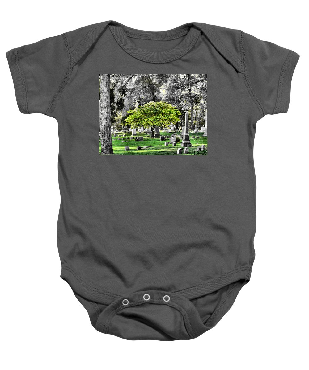 Tree Baby Onesie featuring the photograph Isolated by September Stone