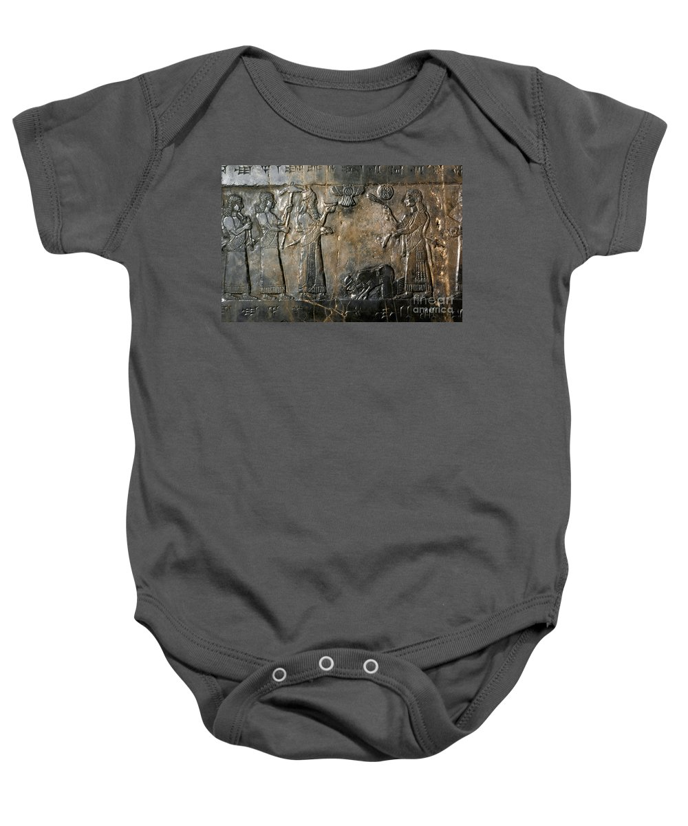 800 B.c. Baby Onesie featuring the photograph Israelite Submission by Granger
