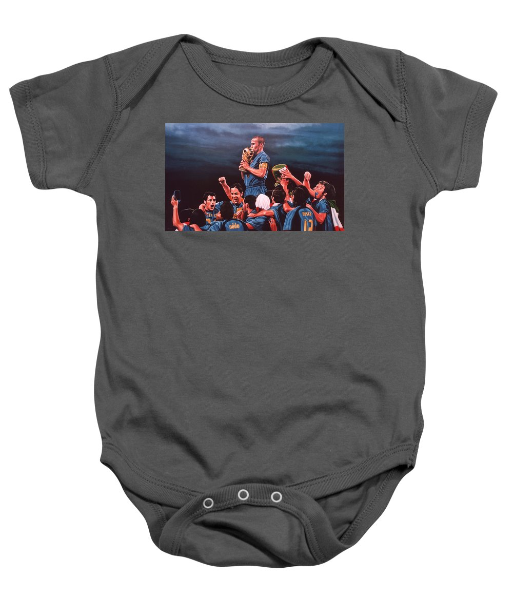 Italia Baby Onesie featuring the painting Italia The Blues by Paul Meijering