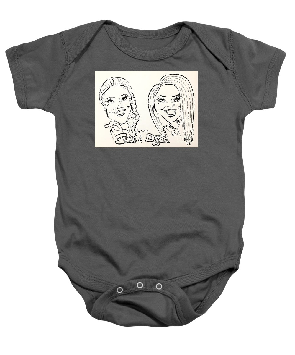 Baby Onesie featuring the painting J D by Sally Huhta