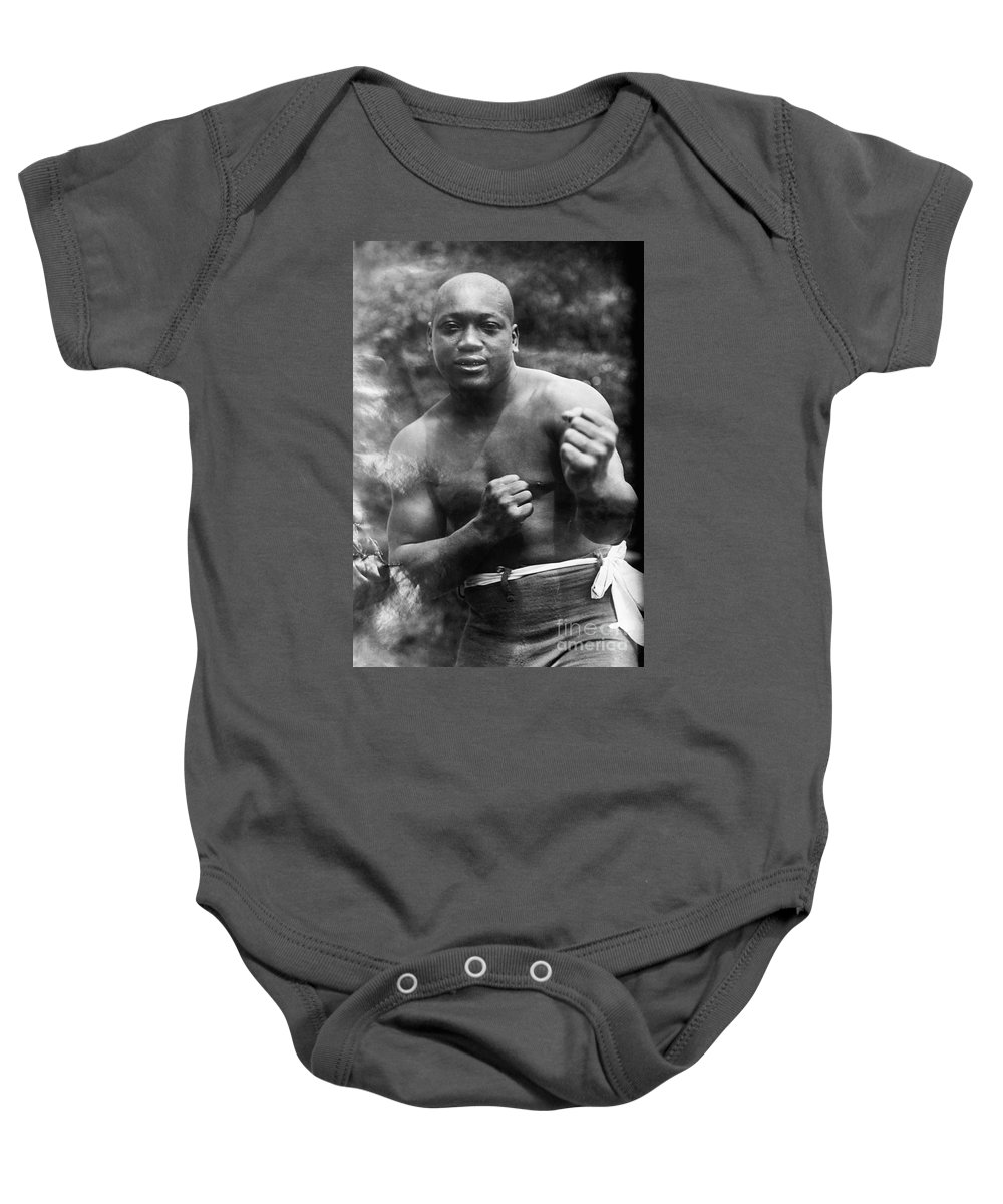 1910s Baby Onesie featuring the photograph Jack Johnson (1878-1946) by Granger