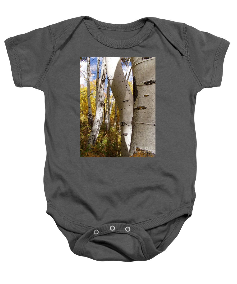 Trees Baby Onesie featuring the photograph Jackson Hole Wyoming by Amanda Barcon
