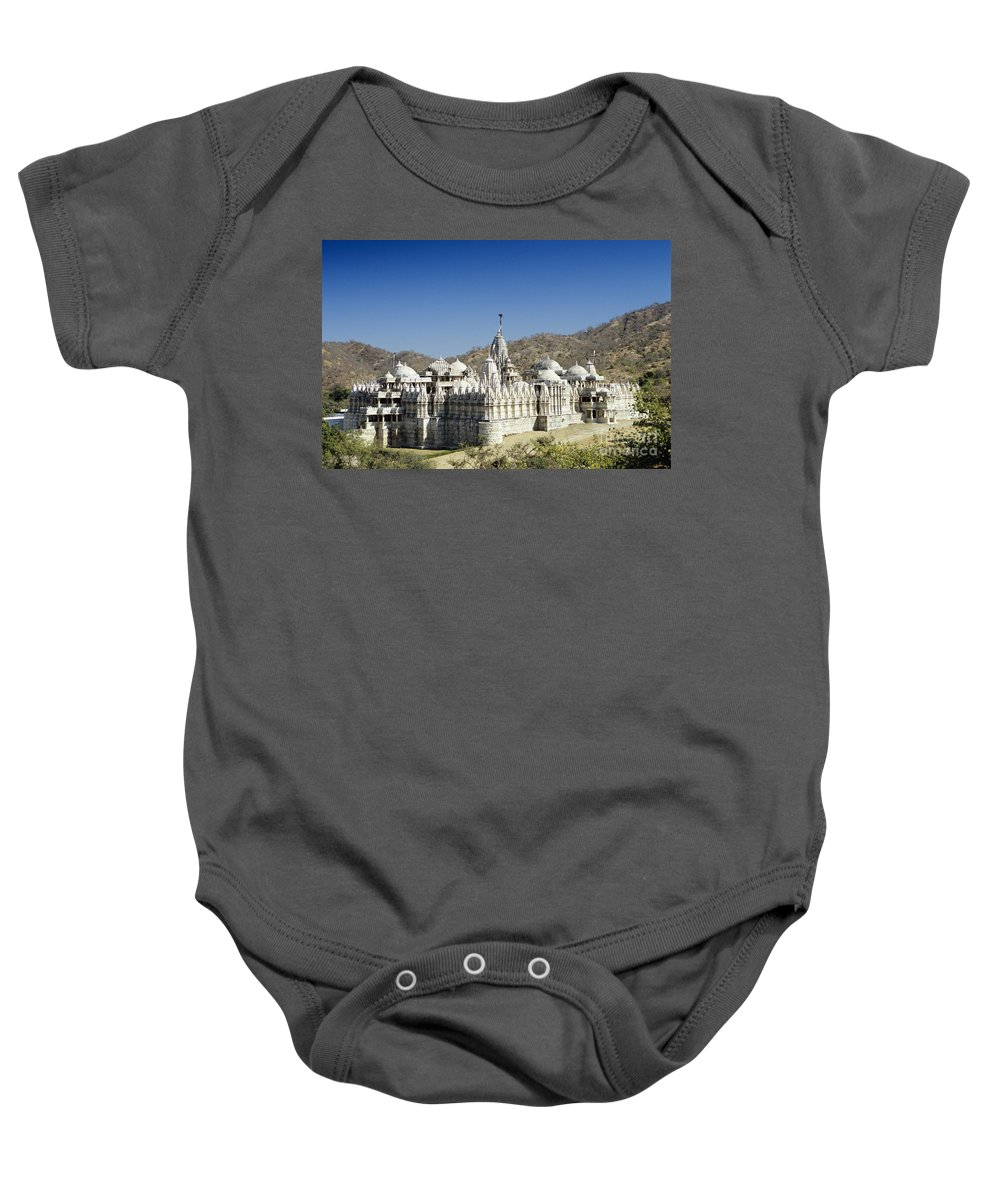 Architectural Baby Onesie featuring the photograph Jain Temple Of Ranakpur by Gloria and Richard Maschmeyer - Printscapes