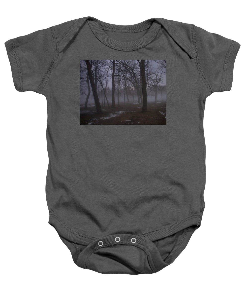 January Baby Onesie featuring the photograph January Fog 2 by Anita Burgermeister
