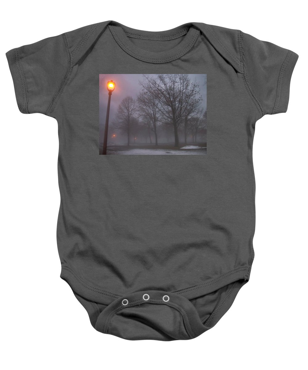 January Baby Onesie featuring the photograph January Fog 3 by Anita Burgermeister